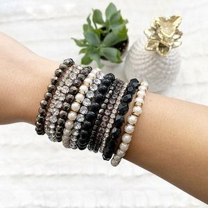 Beads and Crystal Bracelet Set